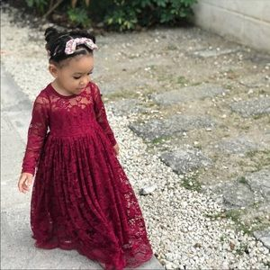 Maroon Toddler Dress